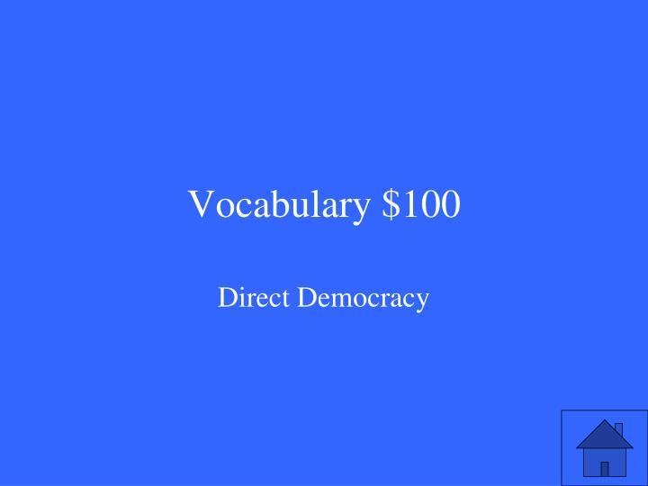 Vocabulary $100