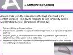 1 mathematical content