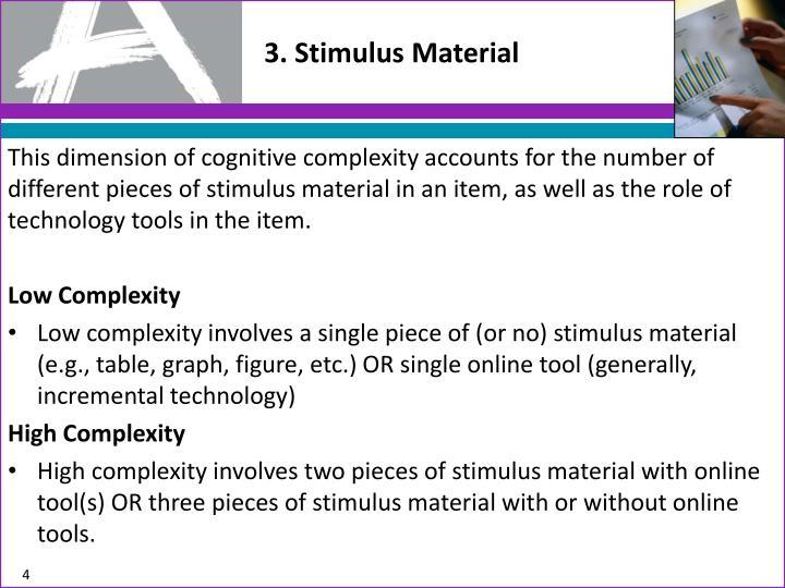 3. Stimulus