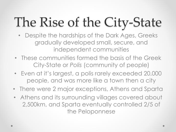 The Rise of the City-State