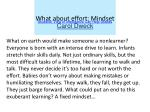 what about effort mindset students view of intelligence can help grades carol dweck