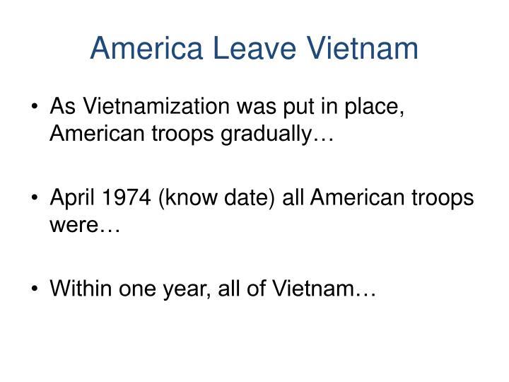 America Leave Vietnam
