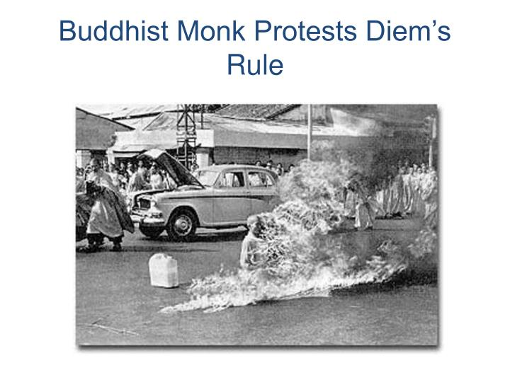 Buddhist Monk Protests Diem's Rule