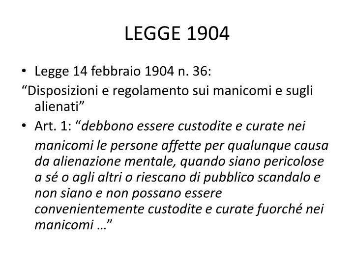LEGGE 1904