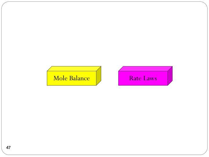 Mole Balance