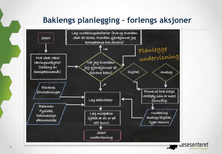 Baklengs planlegging – forlengs aksjoner