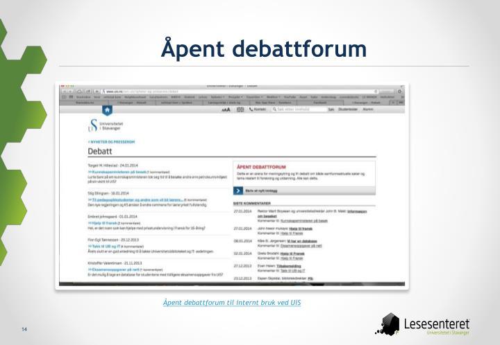 Åpent debattforum