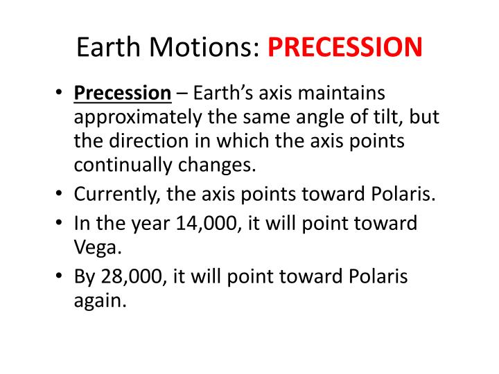 Earth Motions: