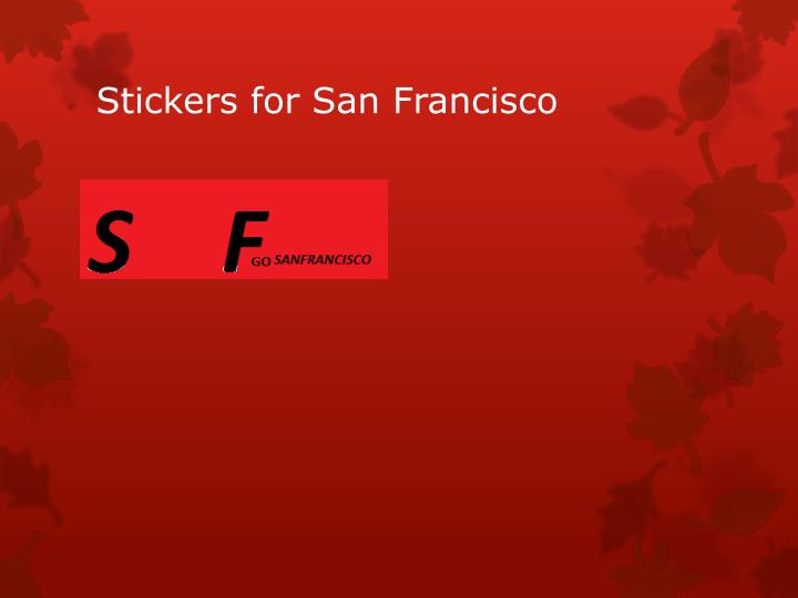 Stickers for San Francisco