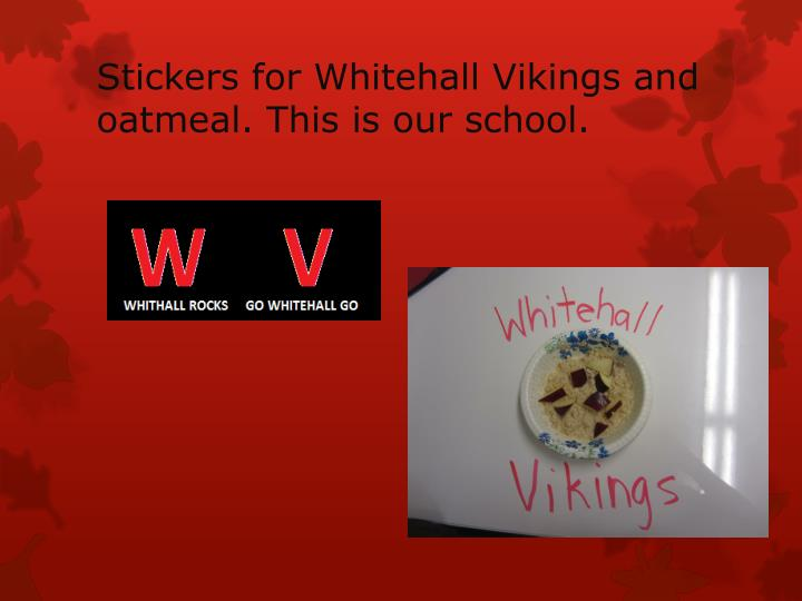 Stickers for Whitehall