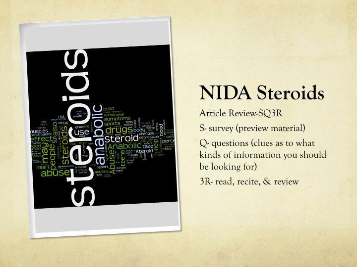 NIDA Steroids