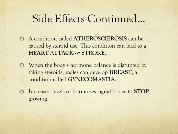 Side Effects Continued…