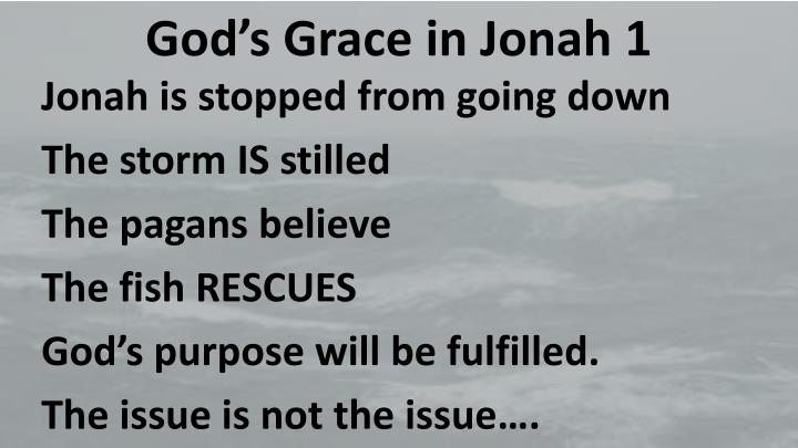 God's Grace in Jonah 1