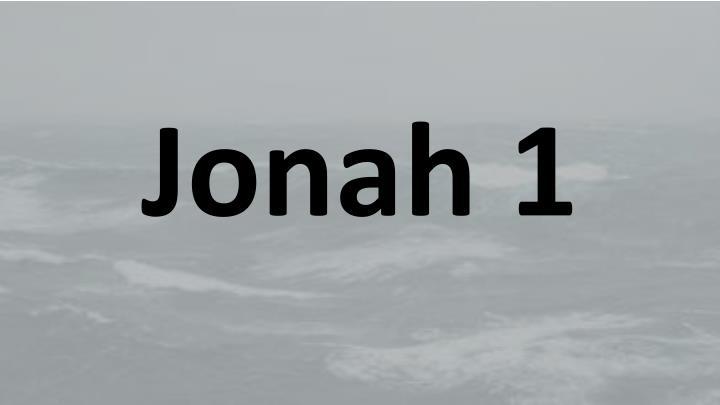 Jonah 1
