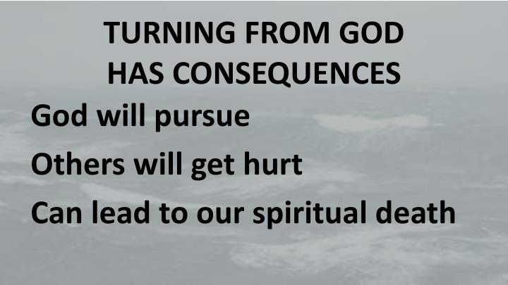TURNING FROM GOD