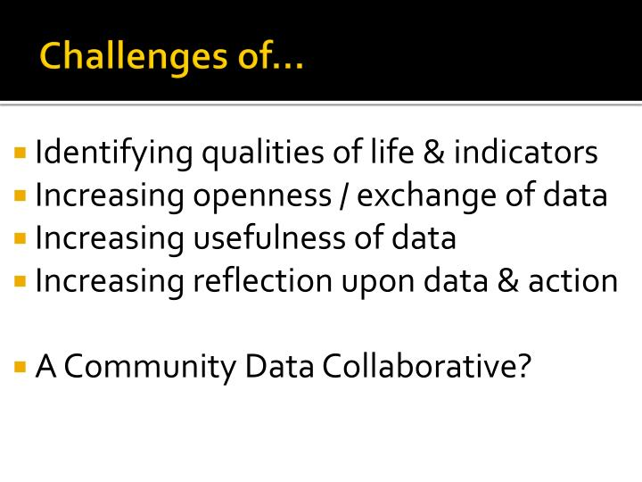 Challenges of…