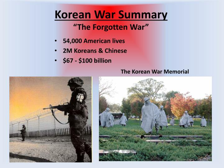 Korean War Summary