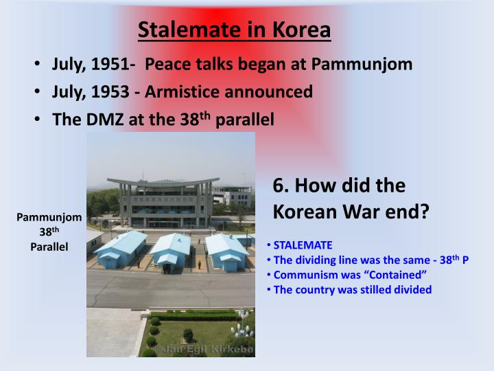 Stalemate in Korea