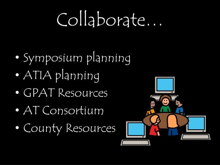 Collaborate…