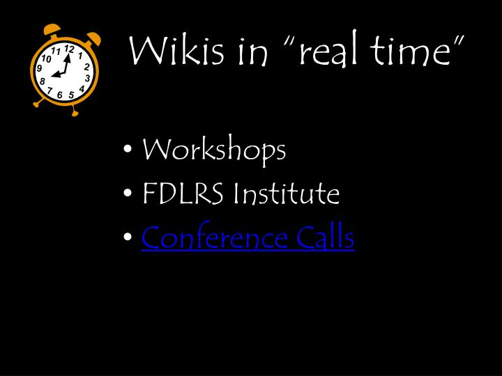 "Wikis in ""real time"""