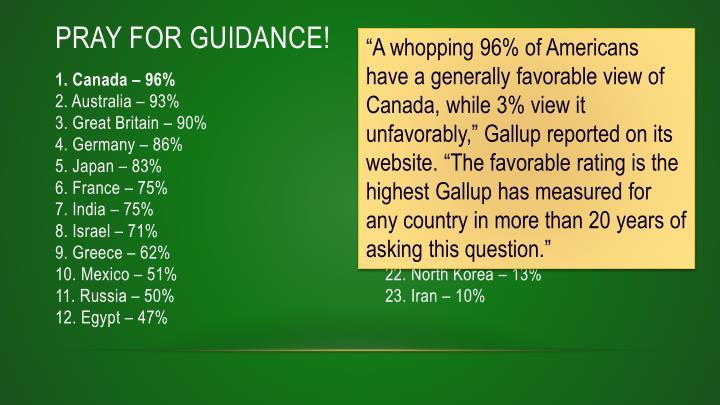 Pray for Guidance!