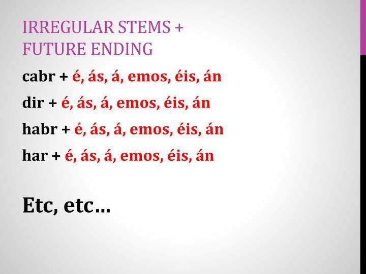 Irregular Stems + Future Ending