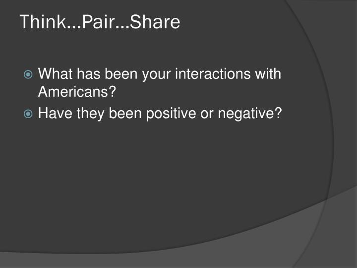 Think…Pair…Share