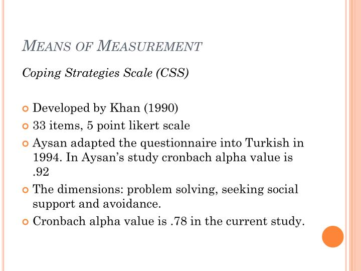 Means of Measurement