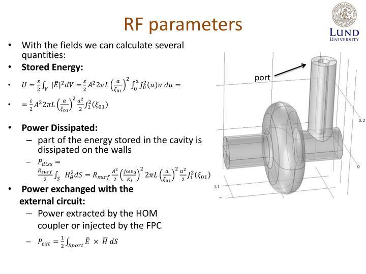 RF parameters