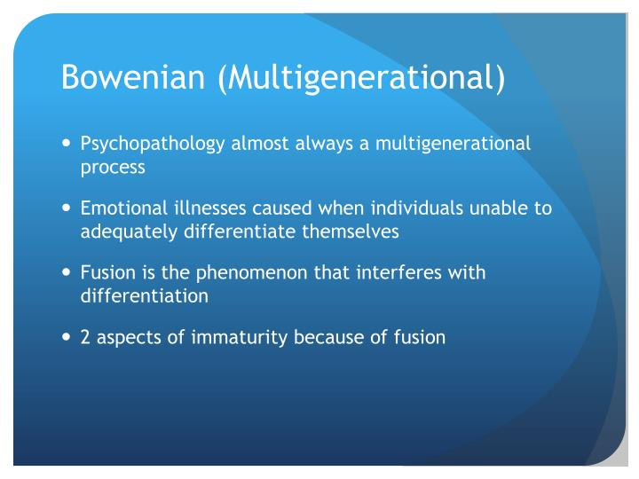 Bowenian (Multigenerational)