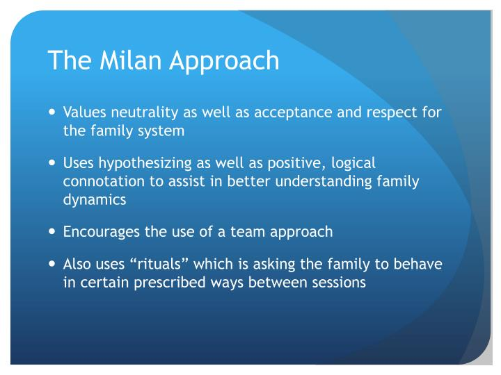 The Milan Approach