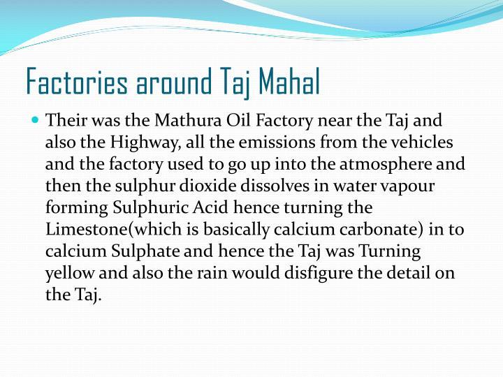 Factories around Taj Mahal