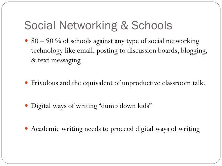 Social Networking & Schools
