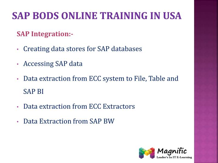 Sap bods online training in usa