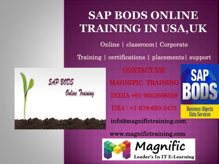 Sap bods online training in usa uk