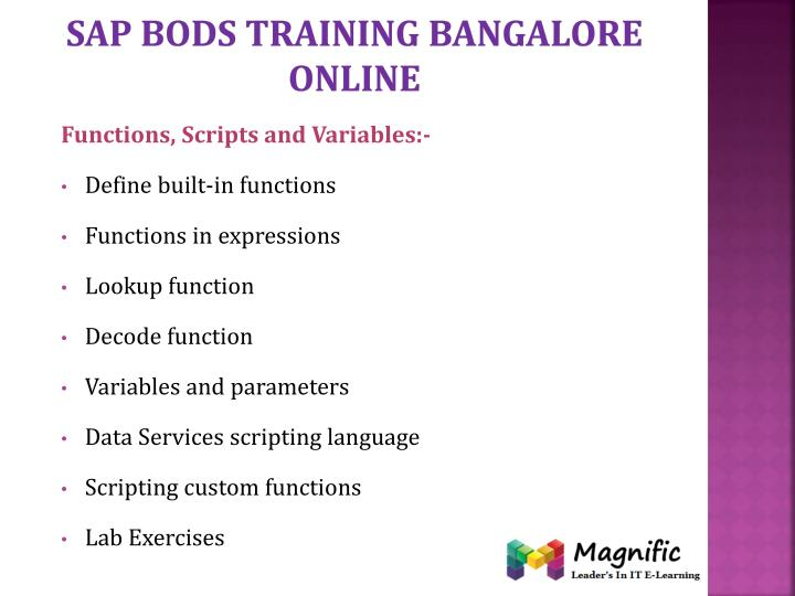 Sap bods training Bangalore online