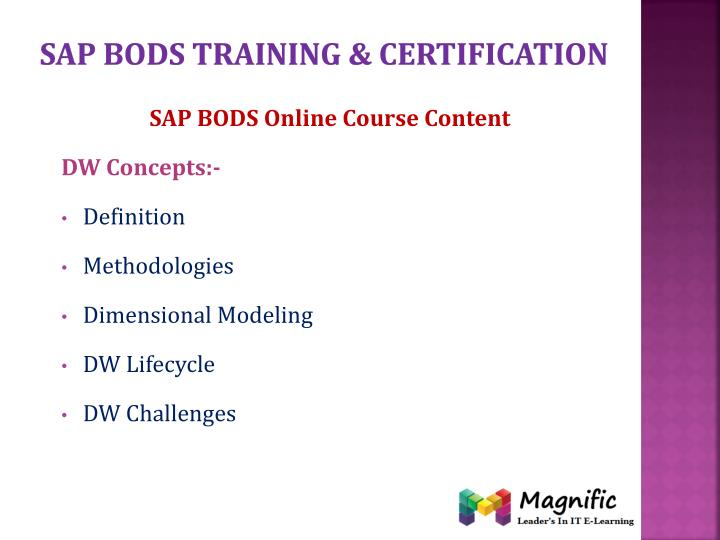 Sap bods training certification