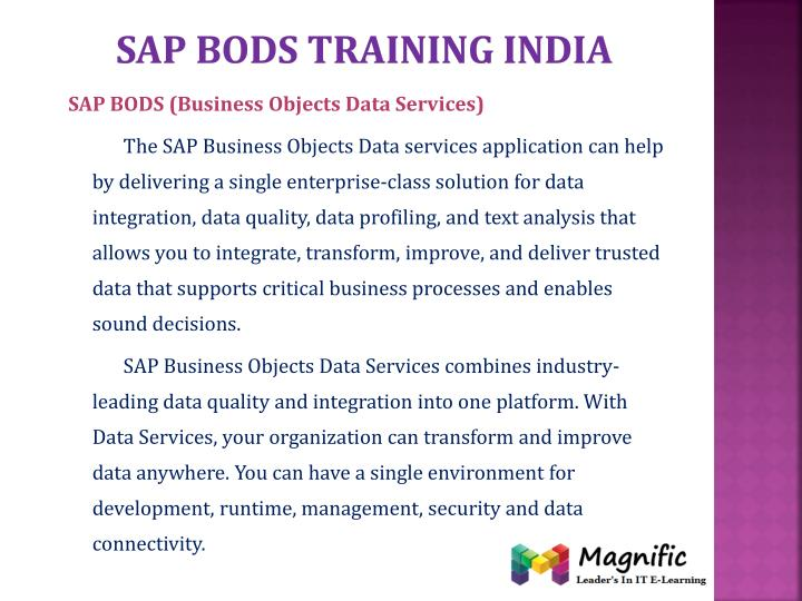 Sap bods training india