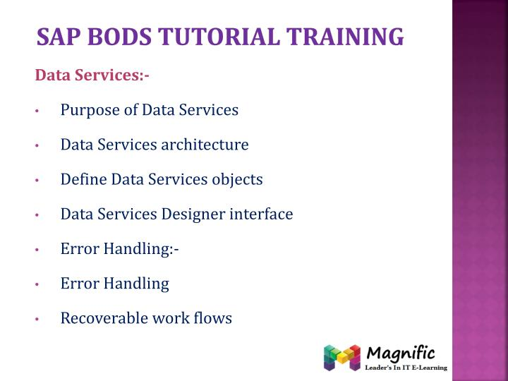 Sap bods tutorial training