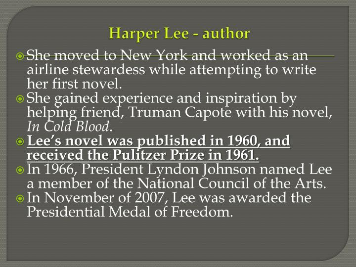 Harper Lee - author