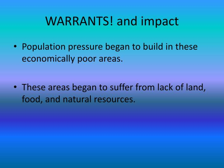 WARRANTS! and impact