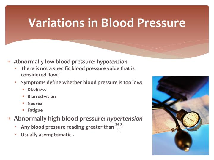 Variations in Blood Pressure