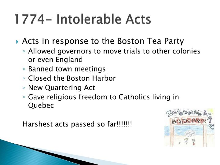 1774 intolerable acts