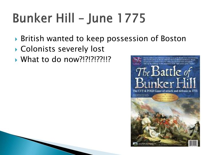 Bunker Hill – June 1775