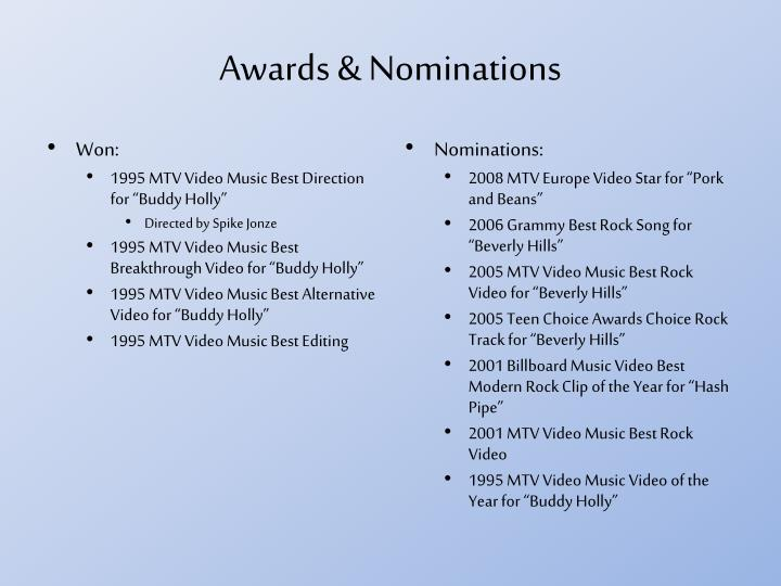 Awards & Nominations