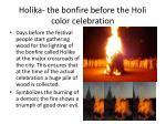 holika the b onfire before the holi color celebration