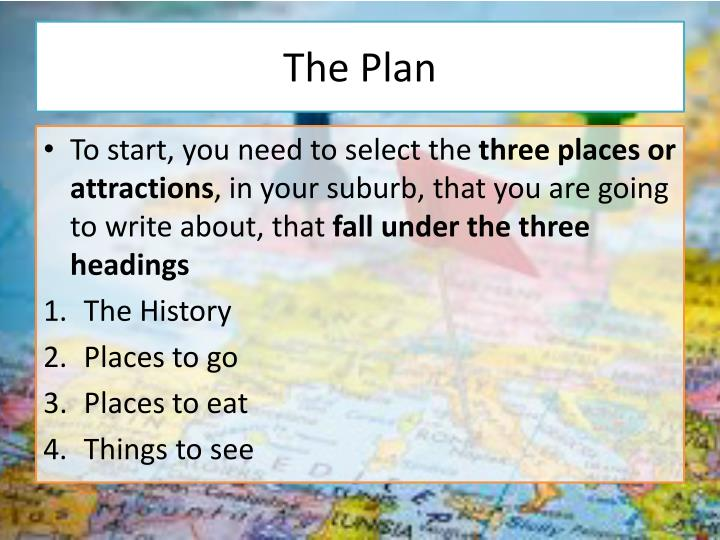 The Plan