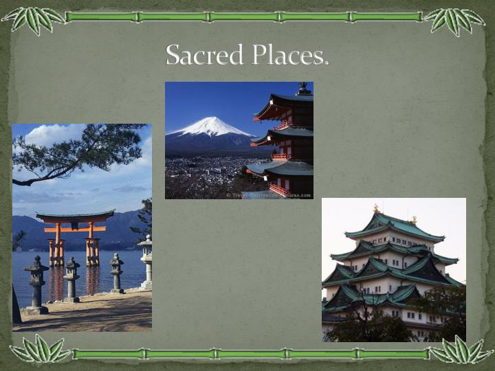 Sacred Places.