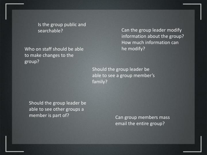 Is the group public and searchable?