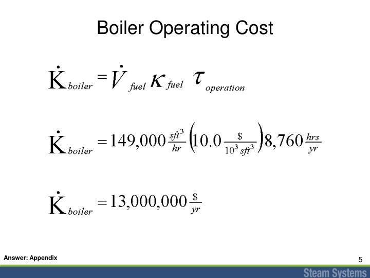 Boiler Operating Cost